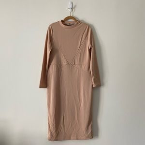 NWT ASOS Fitted Soft Rose Midi Dress